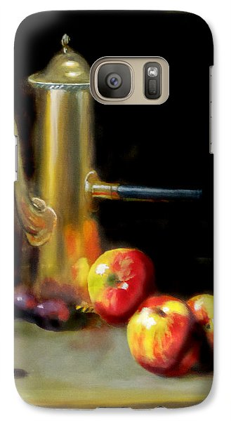 Galaxy Case featuring the painting The Old Coffee Pot by Barry Williamson