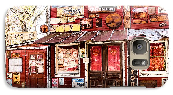 Galaxy Case featuring the photograph The Old Country Store by Cathy Donohoue