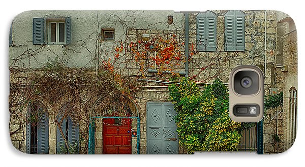 Galaxy Case featuring the photograph The Old Courtyard by Uri Baruch