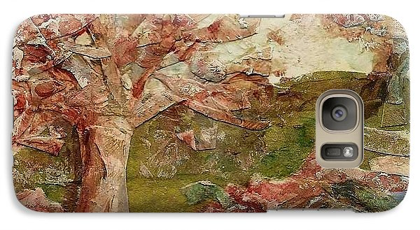 Galaxy Case featuring the painting The Old Fence Line by Mary Wolf