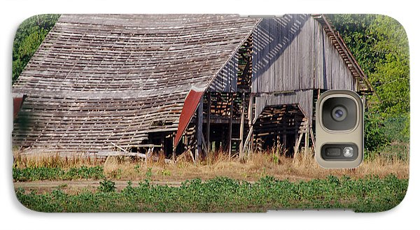 Galaxy Case featuring the photograph The Old Gray Barn by Nick Kirby