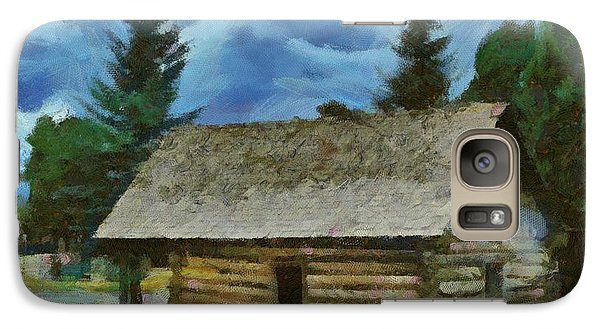 Galaxy Case featuring the digital art The Old Homestead by Carrie OBrien Sibley