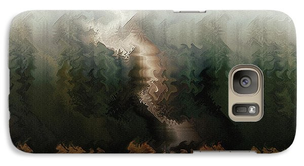 Galaxy Case featuring the digital art The Old Homestead by Kim Redd