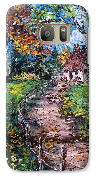 Galaxy Case featuring the painting The Old Homestead by Megan Walsh