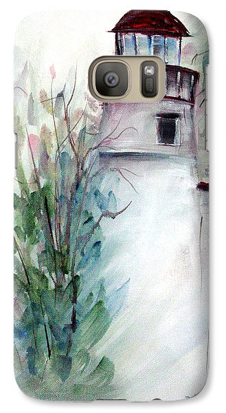 Galaxy Case featuring the painting The Old Lighthouse by Dorothy Maier