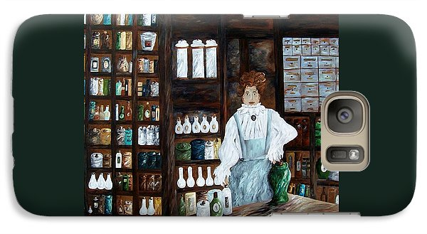 Galaxy Case featuring the painting The Old Pharmacy ... Medicine In The Making by Eloise Schneider