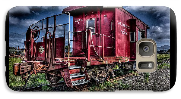 Galaxy Case featuring the photograph Old Red Caboose by Thom Zehrfeld