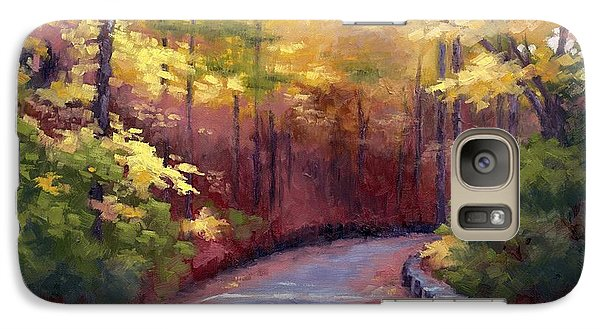 Galaxy Case featuring the painting The Old Roadway In Autumn II by Janet King