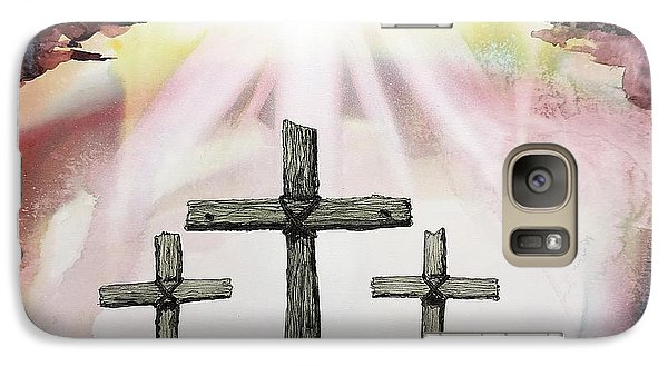 Galaxy Case featuring the painting The Old Rugged Cross by Tom Riggs