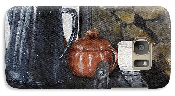 Galaxy Case featuring the painting The Old Stovetop by Jesslyn Fraser