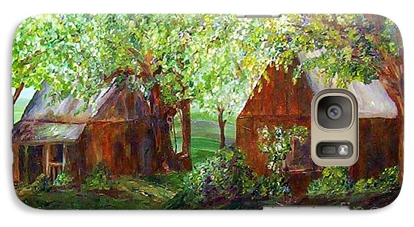 Galaxy Case featuring the painting The Old Swing Between The House And The Barn by Eloise Schneider
