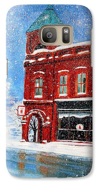 Galaxy Case featuring the painting The Old Town Hall by Patricia L Davidson