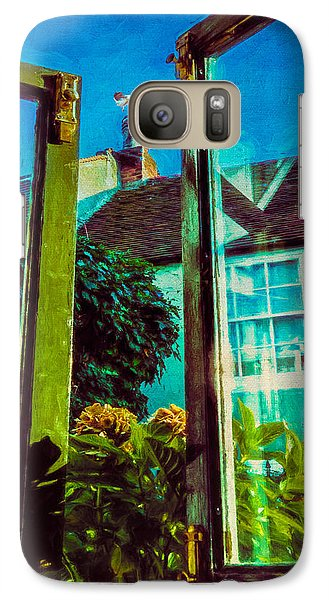 Galaxy Case featuring the photograph The Open Window by Chris Lord