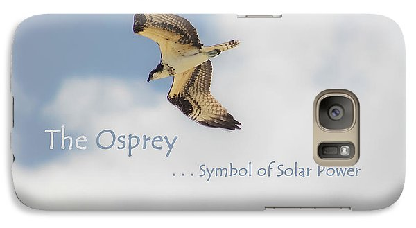 Galaxy Case featuring the photograph The Osprey by DigiArt Diaries by Vicky B Fuller