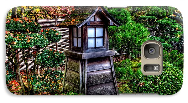 Galaxy Case featuring the photograph The Pagoda At The Japanese Gardens by Thom Zehrfeld