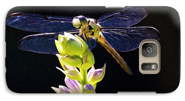 Galaxy Case featuring the photograph The Painted Dragon Lady by Terry Cosgrave