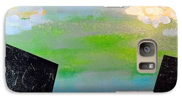 Galaxy Case featuring the painting Cities In The Real World by Theresa Kennedy DuPay