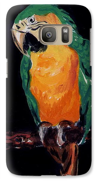 Galaxy Case featuring the painting The Parrot by Joyce Gebauer