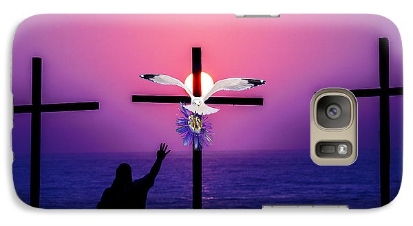 Galaxy Case featuring the painting The Passion Flower by Paula Porterfield-Izzo