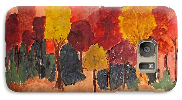 Galaxy Case featuring the painting The Pasture In Autumn by Sandy McIntire