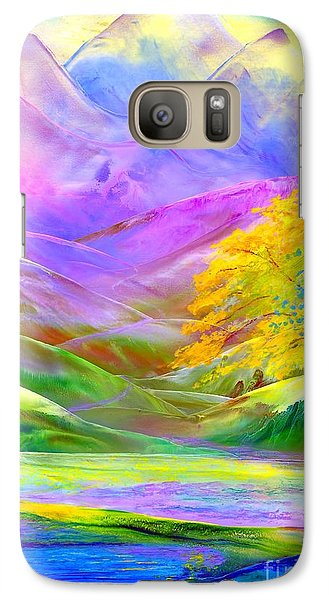 Galaxy Case featuring the painting Misty Mountains, Fall Color And Aspens by Jane Small