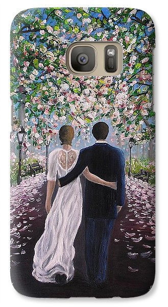 Galaxy Case featuring the painting The Path Of Love  by Vesna Martinjak