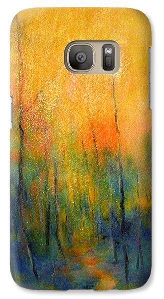 Galaxy Case featuring the painting The Path To Forever by Alison Caltrider