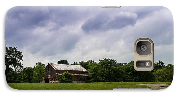 Galaxy Case featuring the photograph The Patriotic Barn by Julie Clements