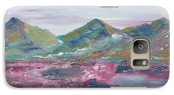 Galaxy Case featuring the painting The Peat Bog by Conor Murphy