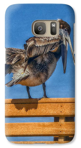 Galaxy Case featuring the photograph The Pelican by Hanny Heim