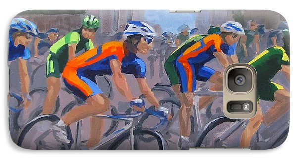 Galaxy Case featuring the painting The Peloton by Karen Ilari