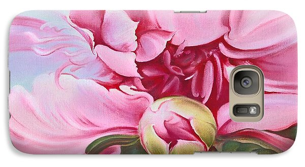 Galaxy Case featuring the painting The Peony by Anna Ewa Miarczynska
