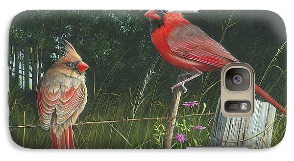 Galaxy Case featuring the painting The Perfect Match by Mike Brown