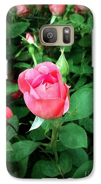 Galaxy Case featuring the photograph The Perfect Pink Rose by Becky Lupe