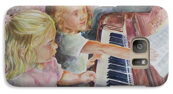 Galaxy Case featuring the painting The Piano Lesson by Gloria Turner