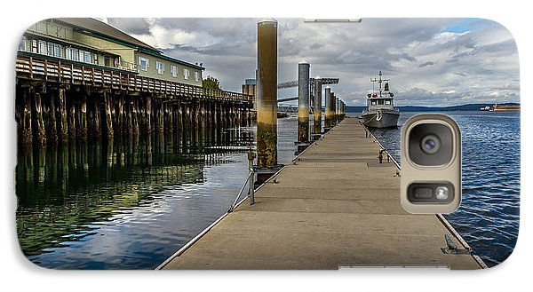 Galaxy Case featuring the photograph The Pier At The Dock Tacoma Wa by Rob Green