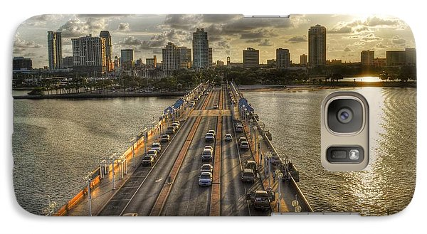Galaxy Case featuring the photograph The Pier In Saint Petersburg Florida by Timothy Lowry