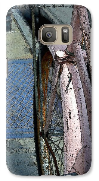 Galaxy Case featuring the photograph The Pink Bicyclette by Nadalyn Larsen