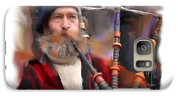 Galaxy Case featuring the digital art The Piper by Bob Salo