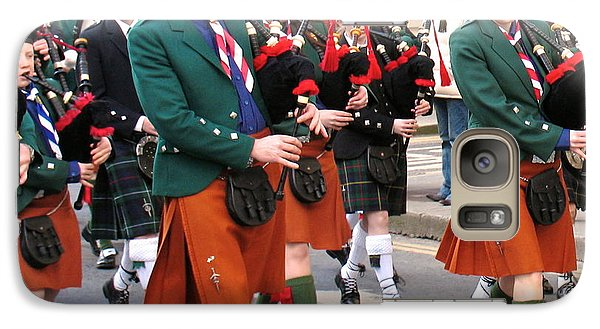 Galaxy Case featuring the photograph The Pipers by Suzanne Oesterling
