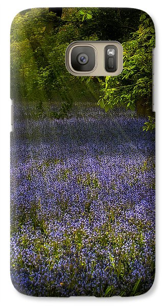 Galaxy Case featuring the photograph The Pixie's Bluebell Patch by Chris Lord