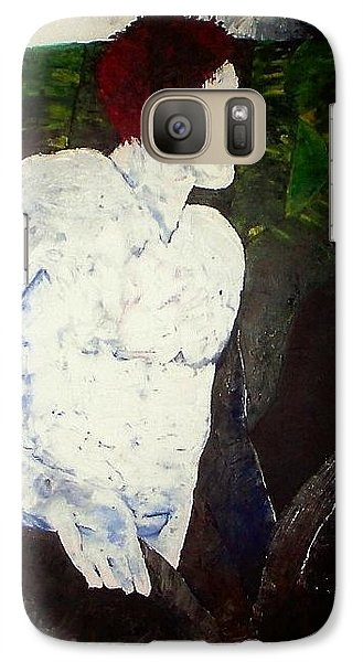 Galaxy Case featuring the painting The Plowman by Carrie Maurer