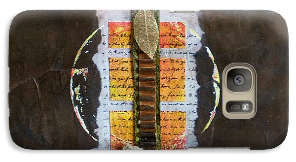 Galaxy Case featuring the mixed media The Poem by Sherry Davis