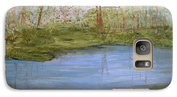 Galaxy Case featuring the painting The Pond by Debbie Baker