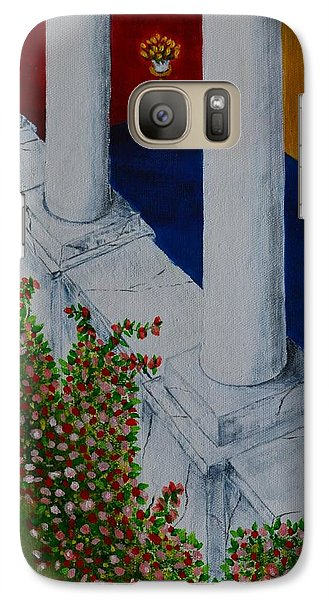 Galaxy Case featuring the painting The Porch by Melvin Turner