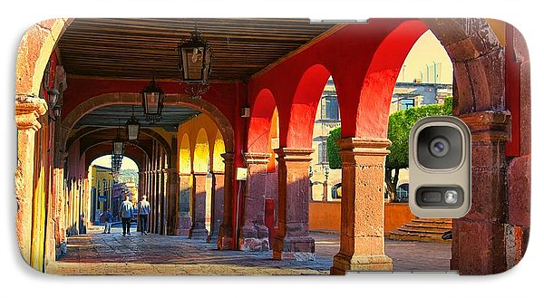 Galaxy Case featuring the photograph The Portico by Nicola Fiscarelli