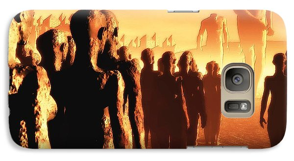 Galaxy Case featuring the digital art The Post Apocalyptic Gods by John Alexander