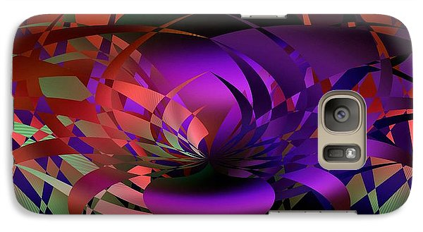 Galaxy Case featuring the digital art the Potted Plant by rd Erickson