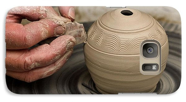 Galaxy Case featuring the photograph The Potter's Wheel by Liz  Alderdice