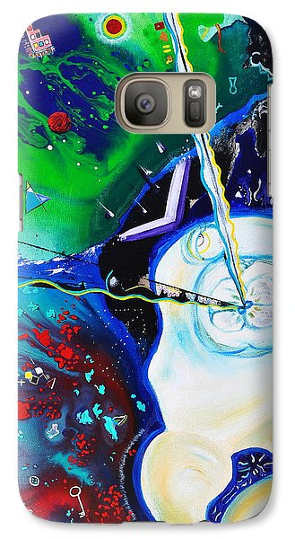 Galaxy Case featuring the painting The Power Of Thought by Christine Ricker Brandt